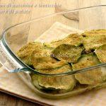 Tortino di zucchine e lenticchie con purè ricetta