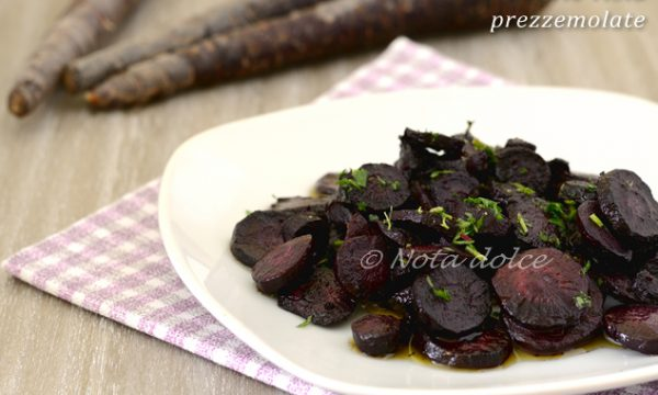 Carote viola prezzemolate ricetta facile