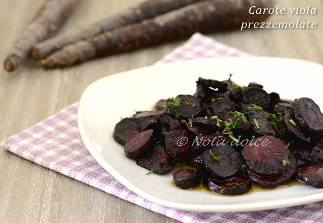 Carote viola prezzemolate ricetta facilissima