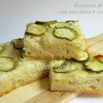 Focaccia di semola con zucchine ricetta con lievito madre