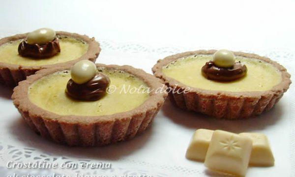 Crostatine con crema al cioccolato bianco e ricotta ricetta dolce