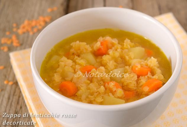 Zuppa di lenticchie rosse decorticate ricetta veloce