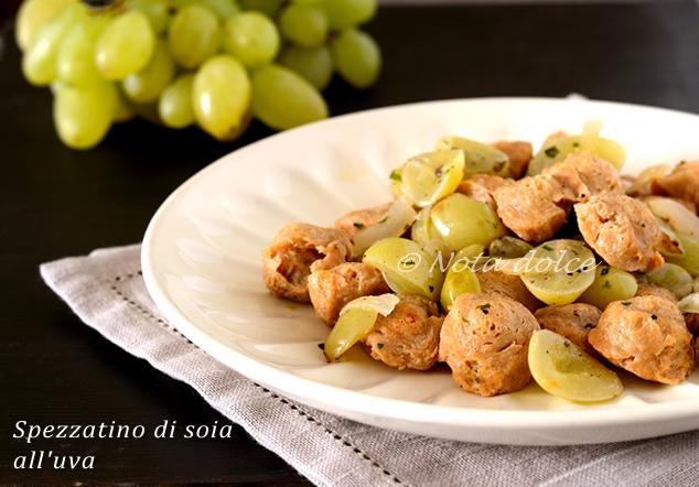 Spezzatino di soia all'uva ricetta secondo vegano
