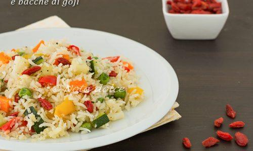 Riso con verdure e bacche di goji ricetta facile