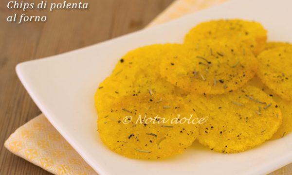 Chips di polenta al forno ricetta facile
