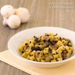 Pasta con funghi e lenticchie nere ricetta facile