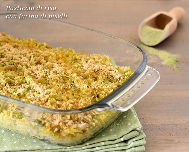 Pasticcio di riso con farina di piselli ricetta vegana