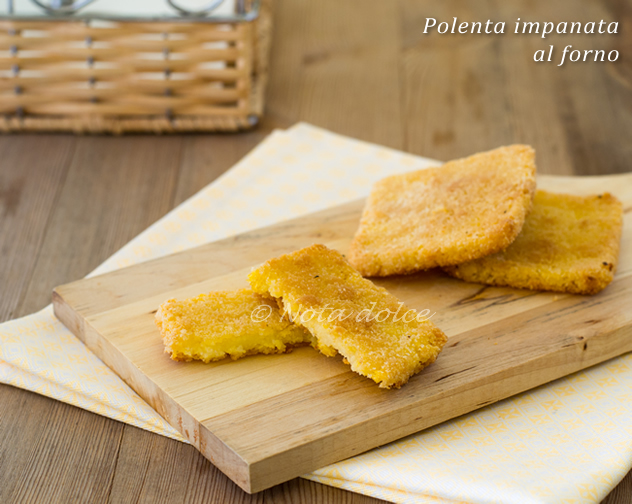 Polenta impanata al forno ricetta gustosa
