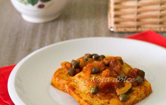 Tofu alla pizzaiola ricetta facile e veloce