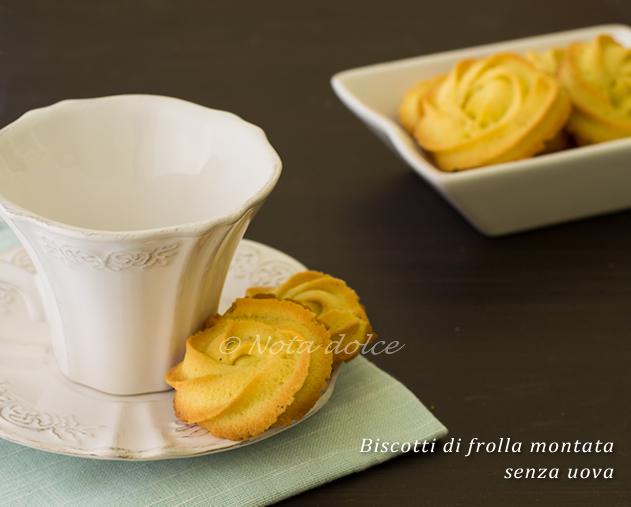 Ricetta biscotti di pasta frolla senza uova
