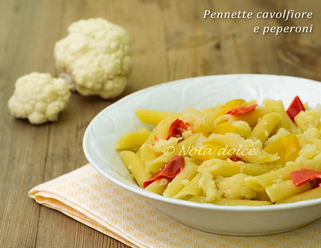 Pennette cavolfiore e peperoni ricetta facile