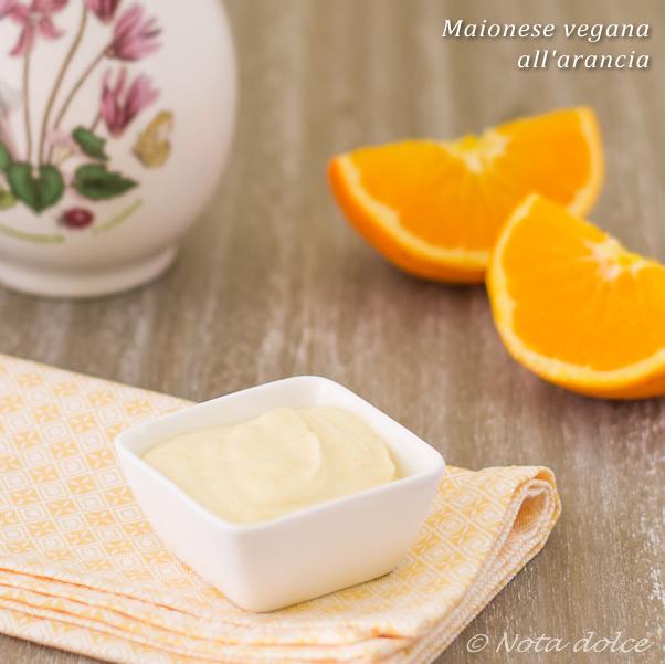 Maionese vegana all'arancia ricetta veloce