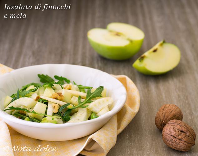 Insalata di finocchi e mela ricetta veloce