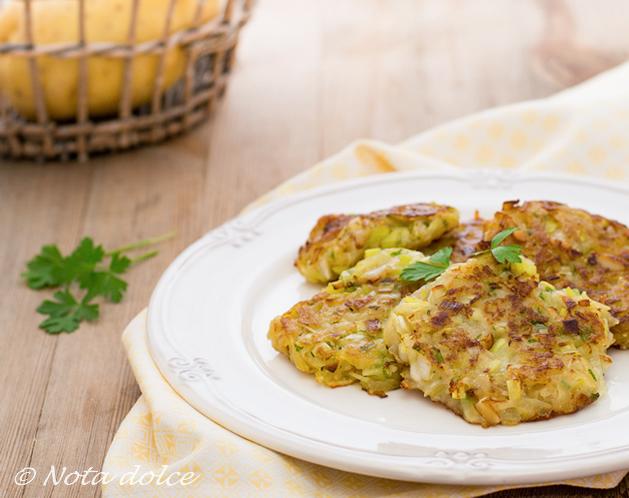 Frittelle di patate e porri ricetta veloce