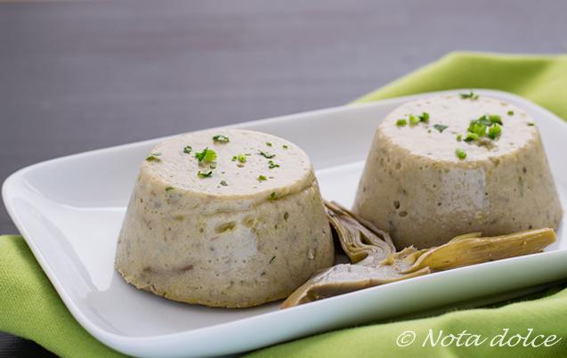 Sformatini di carciofi e mandorle ricetta facile antipasto vegano
