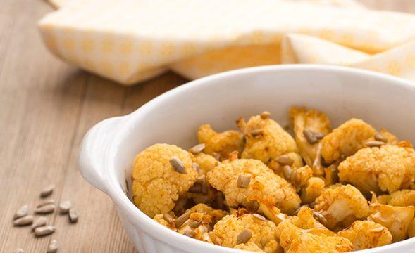 Cimette di cavolfiore speziate al forno ricetta veloce