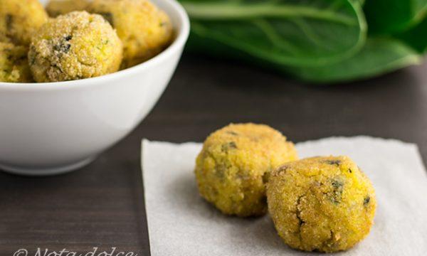 Polpette di polenta e coste ricetta facile