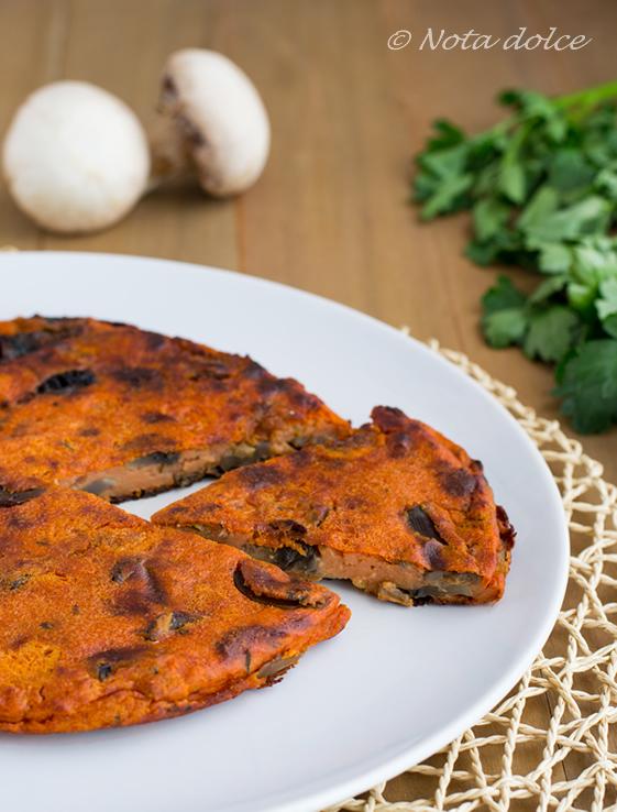 Farifrittata al pomodoro e funghi ricetta gustosa