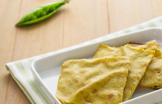 Farinata di ceci con crema di piselli ricetta facile