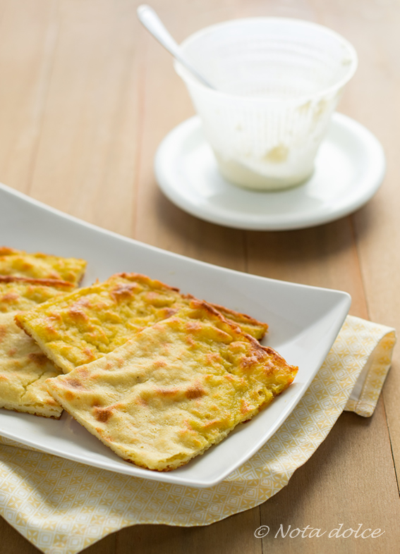 Finta farinata alla ricotta ricetta gustosa