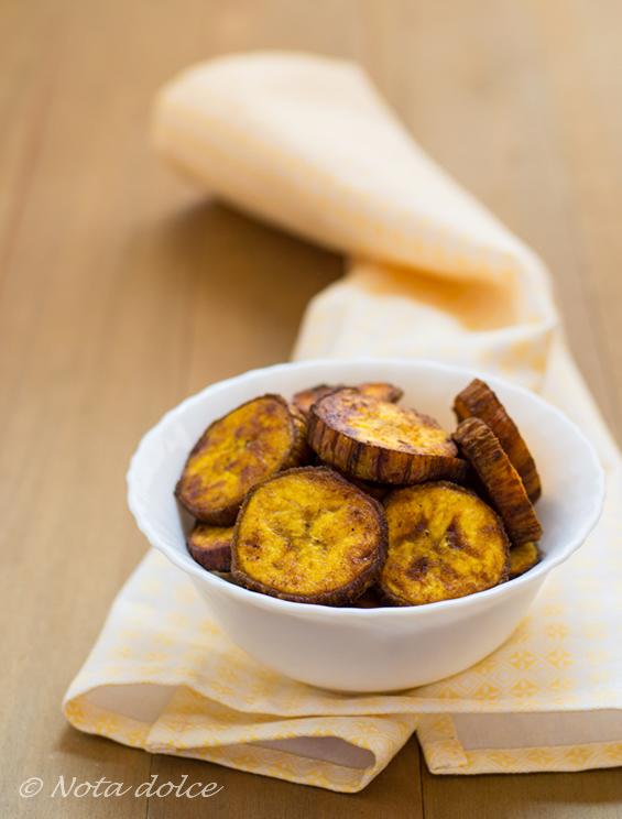 Platano speziato fritto ricetta sfiziosa