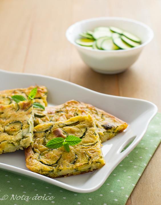 Farinata di ceci alle zucchine ricetta facile