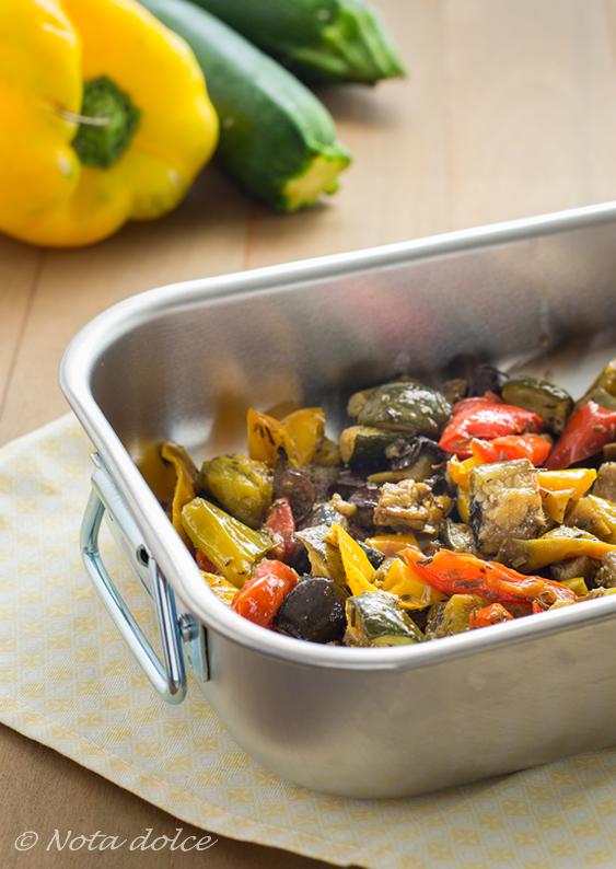 Verdure arrostite al forno ricetta gustosa