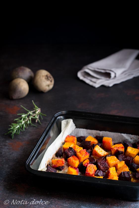 Zucca e barbabietole al forno ricetta facile