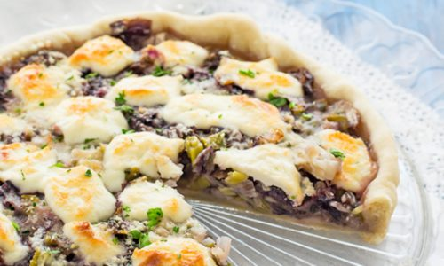 Torta salata radicchio e porri ricetta facile