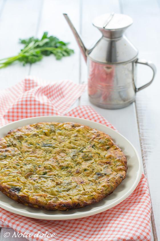 Frittata di minestrone ricetta gustosa cotta al forno