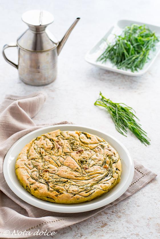 Frittata senza uova con agretti ricetta facile