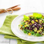 Insalata di riso nero con zucchine ricetta facile