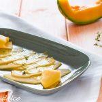 Carpaccio di melone con salsa al timo ricetta facile e veloce