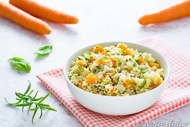Cous cous alle carote ed erbe aromatiche ricetta facile