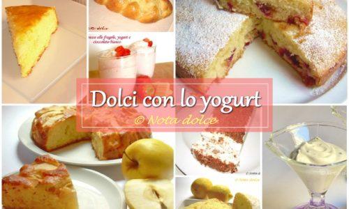 Dolci con lo yogurt ricette facili e golose