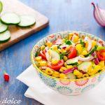 Insalata di mango e mais arrostito ricetta facile