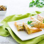 Triangoli di pasta fillo alle melanzane ricetta gustosa