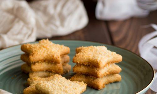 Stelline al cocco e zenzero ricetta biscotti senza burro