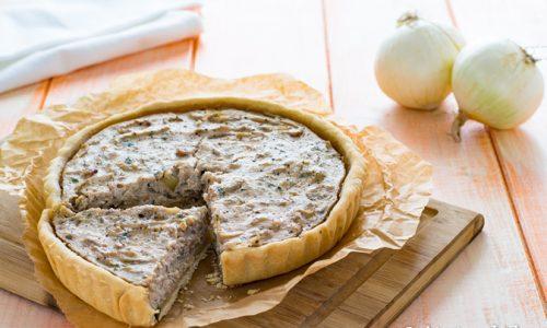 Torta salata con cipolle e tofu al marsala ricetta gustosa