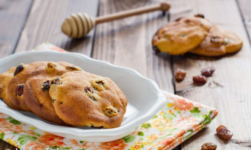 Cookies al miele e uvetta ricetta dolce