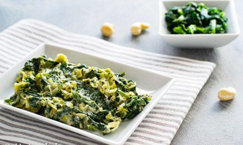 Spinaci e porri in padella ricetta facile e sfiziosa