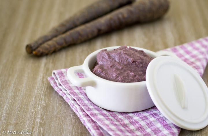 Crema di carote viola e lenticchie ricetta facile