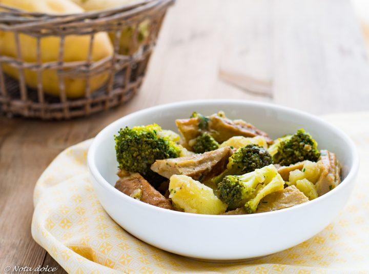Seitan con broccoli e patate ricetta facile e gustosa