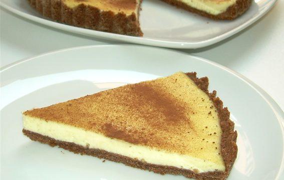 Crostata al cacao con crema al formaggio ricetta golosa