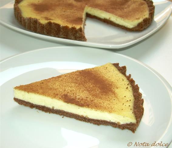 Crostata al cacao con crema al formaggio ricetta