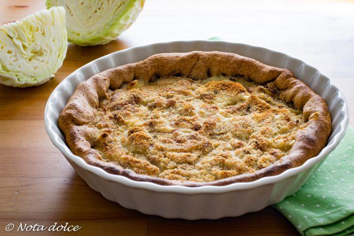 Torta salata di cavolo bianco e patate ricetta facile