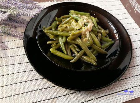 Fagiolini lessati all'aglio