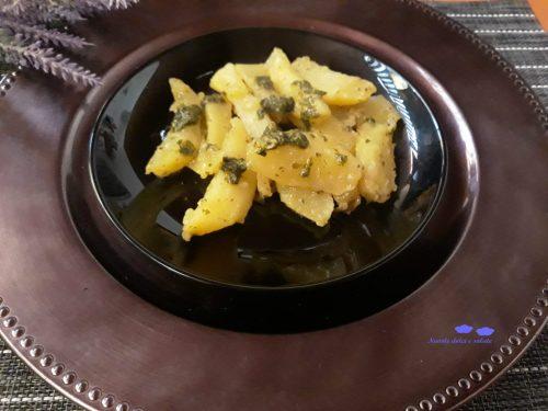 Patate al pesto di basilico