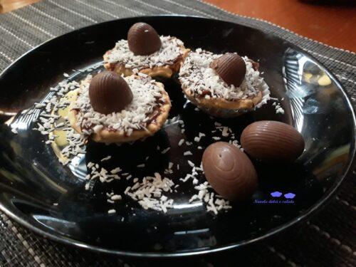 Tartellette alla Nutella e cocco
