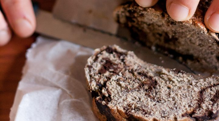 Gluten free Chocolatish Babka bread